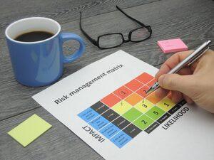 Identifying critical risk in a risk management matrix